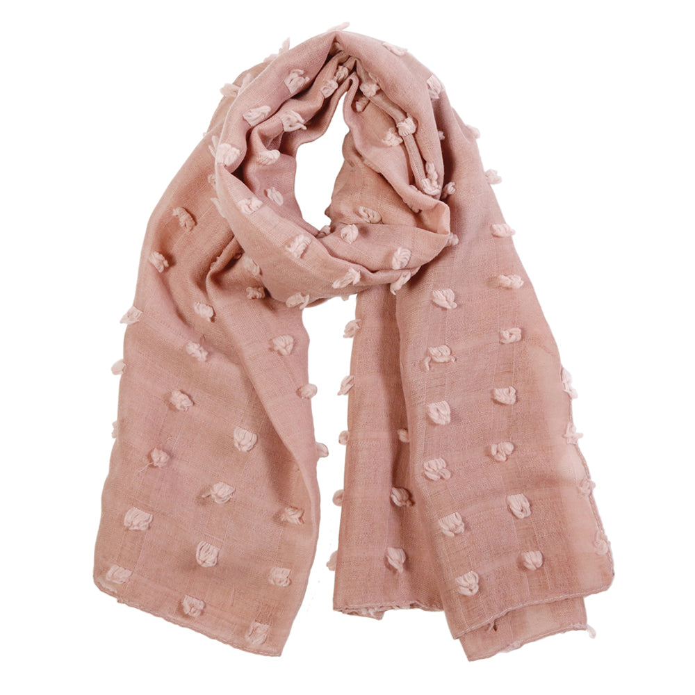 "<font color=""526b9e""><b> NEW! </b></font> POPPY SCARF - <br> ROSE"