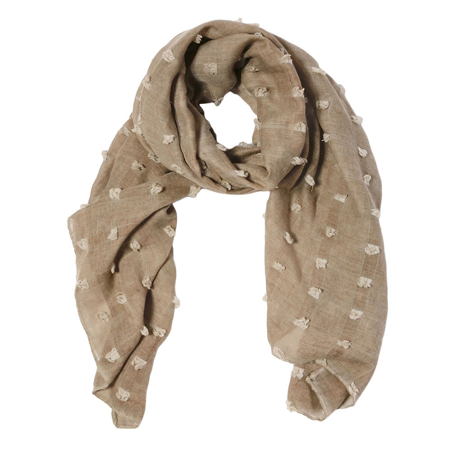 <b> NEW! </b> POPPY SCARF - TAUPE