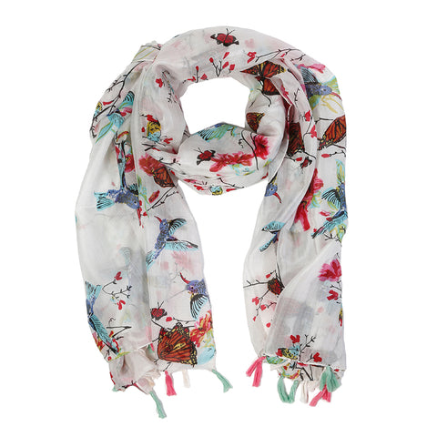 </font> ROCHELLE SILK SCARF - <br> Multi Color