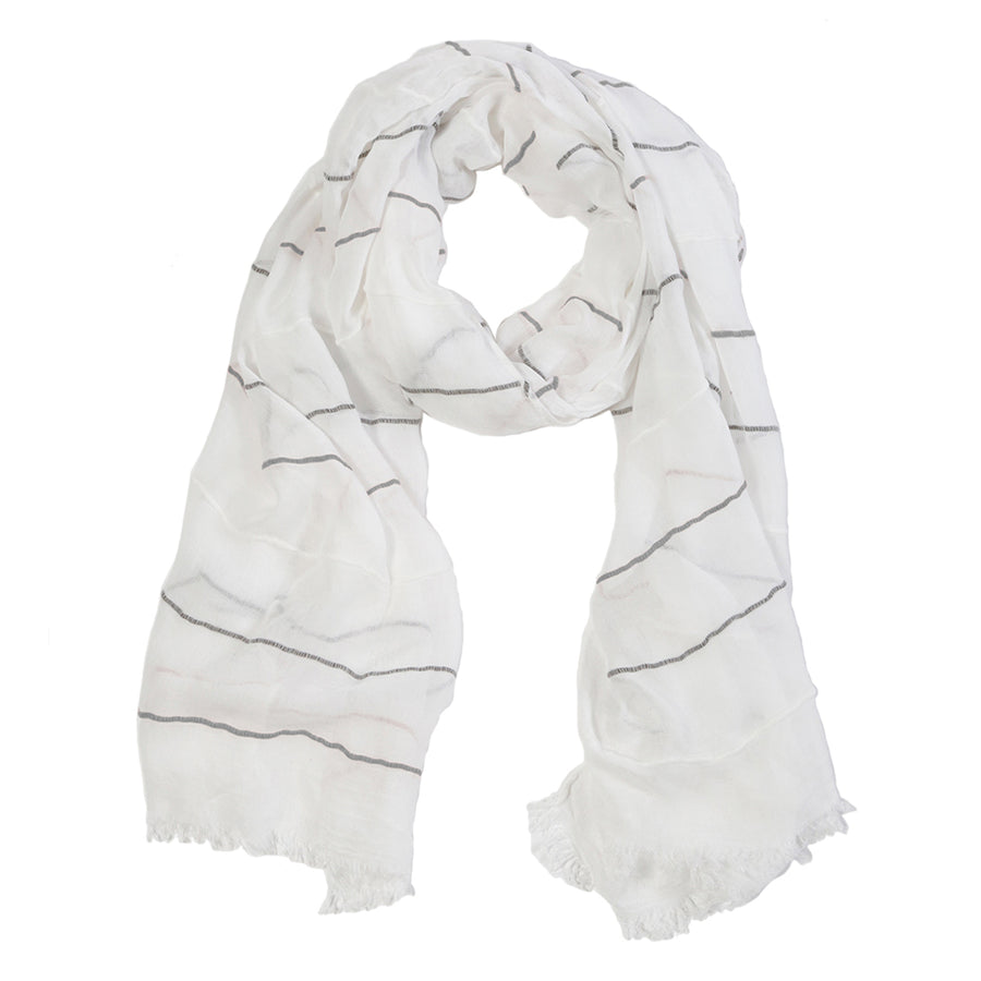 WESTPORT SCARF - WHITE