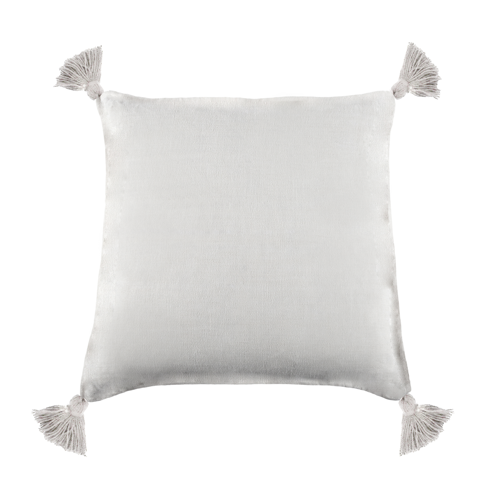 "<font color=""blue""> NEW Colors! </font> <br> Montauk Pillow <p> 20"" x 20"" with tassels and insert </p>"