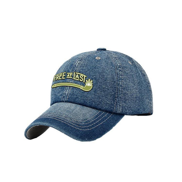 Washed Denim Baseball Cap-Unisex