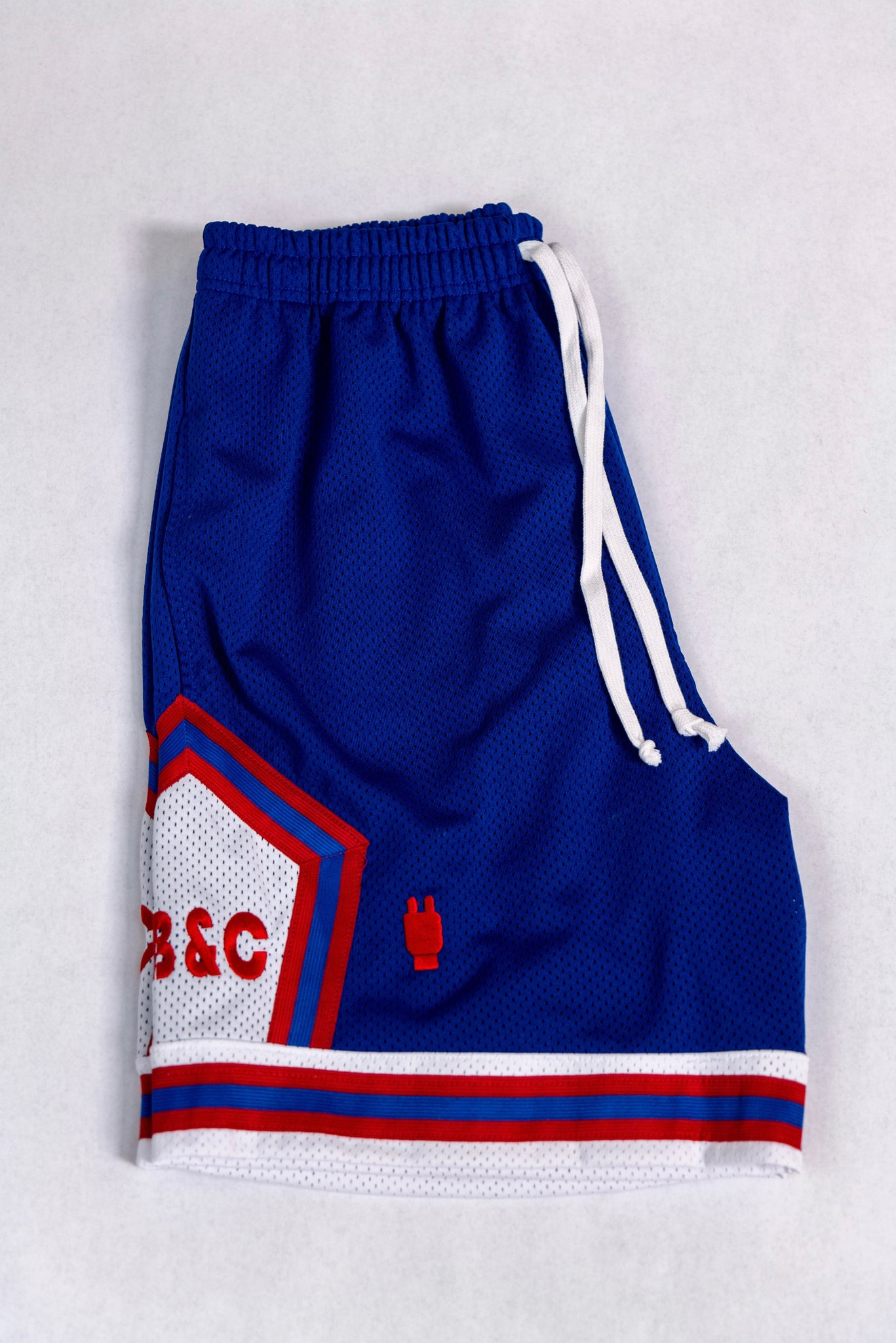 Blue Heavyweight Mesh Hoop Shorts