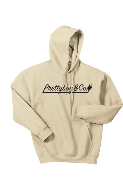 Tan Script Hooded Sweatshirt (Limited)