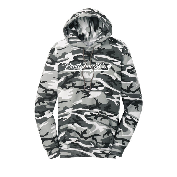 White Camo Script Hooded Sweatshirt (Limited)