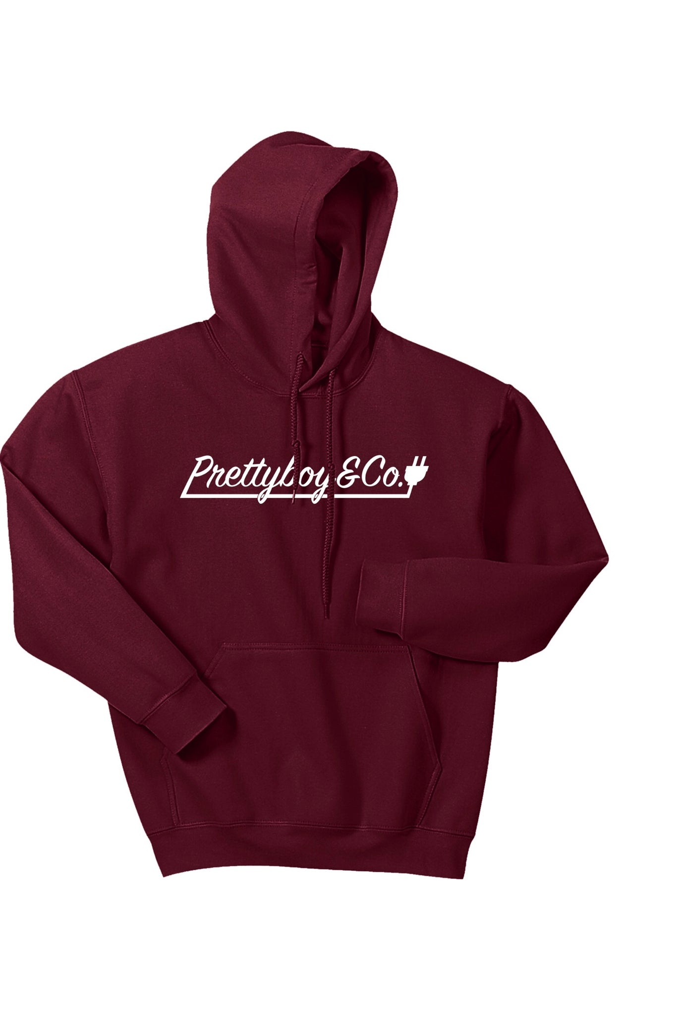 Burgundy Script Hooded Sweatshirt (Limited)