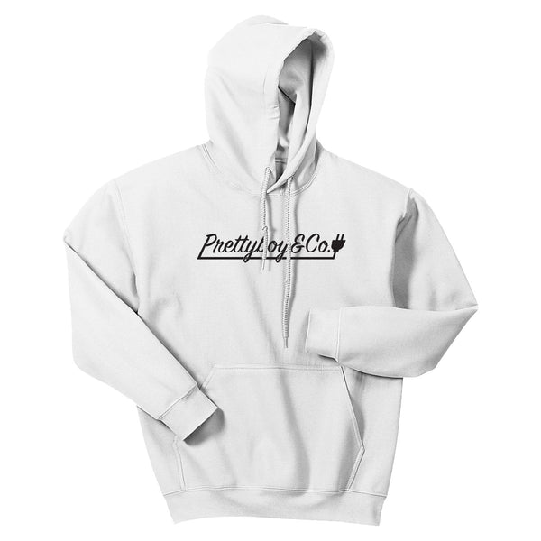 Script Hooded Sweatshirt White (LIMITED)
