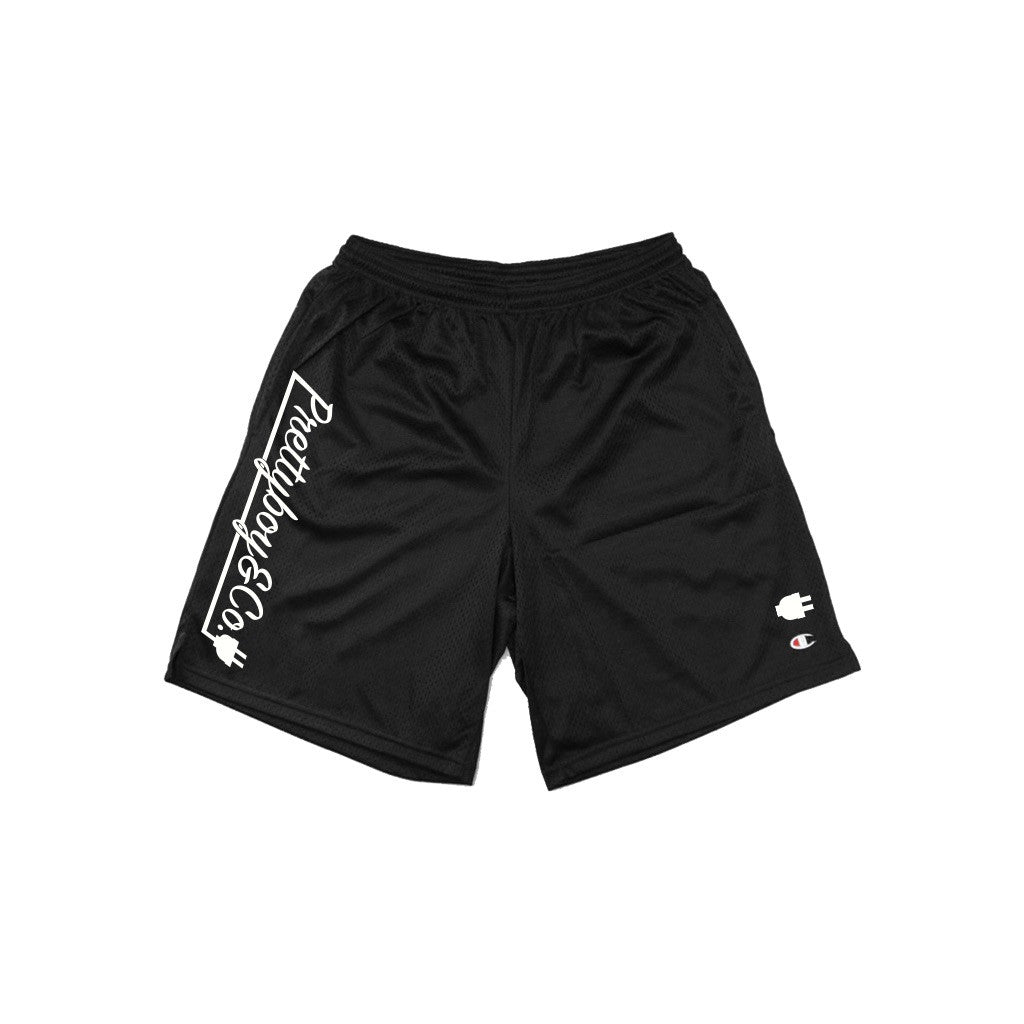 Black Champion Mesh Shorts W/ Pockets (PREORDER)