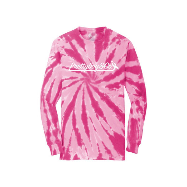 Pink Tie Dye Breast Cancer Awareness Longsleeve (Preorder)