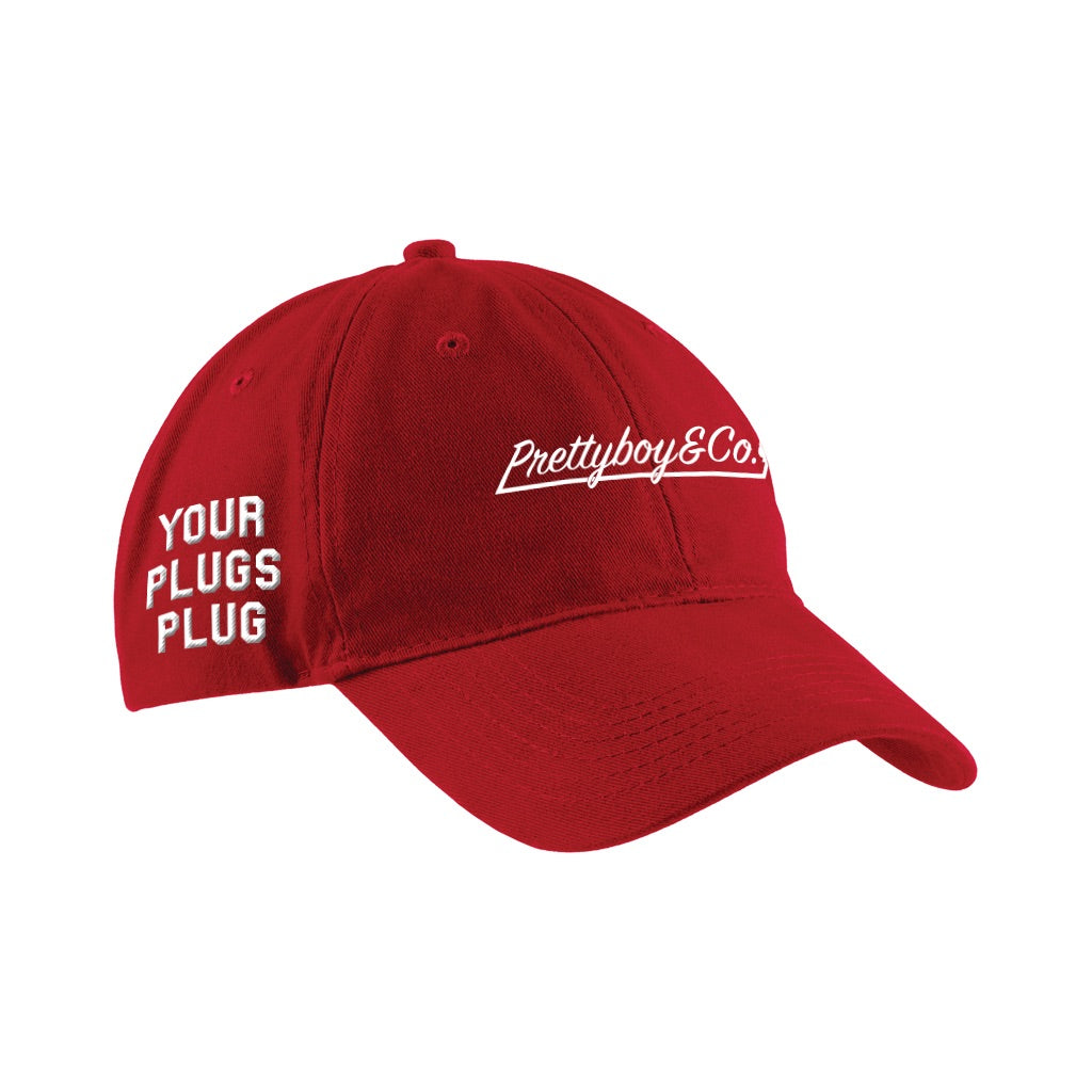 Embroidered Adjustable Script/YPP Dad Hat Red