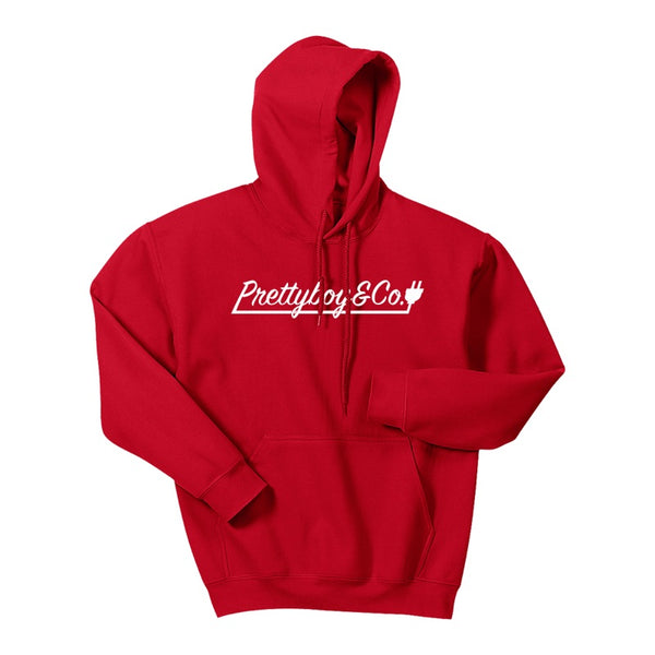 Script Hooded Sweatshirt Red (Limited)
