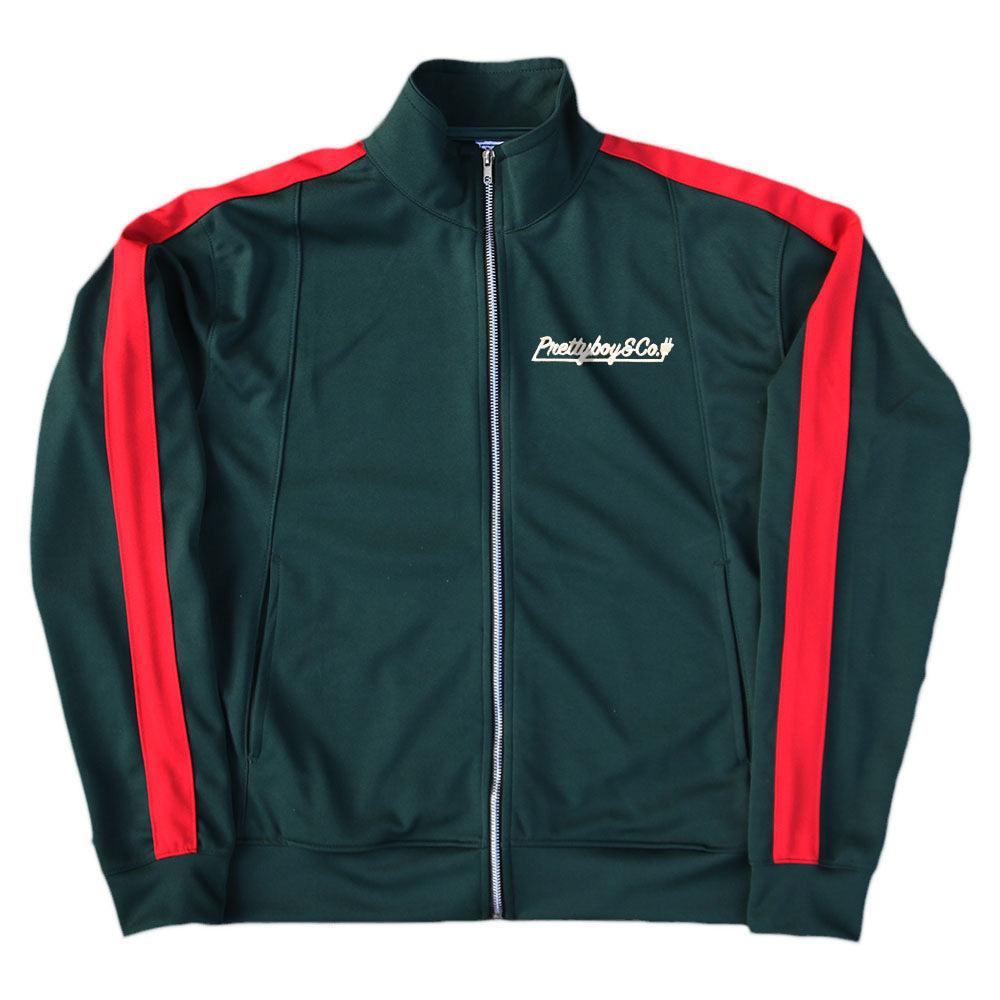 Green/Red Embroidered Script Track Jacket (Limited)