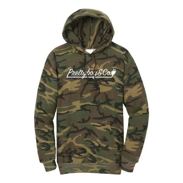 Camo Script Hooded Sweatshirt (Limited)
