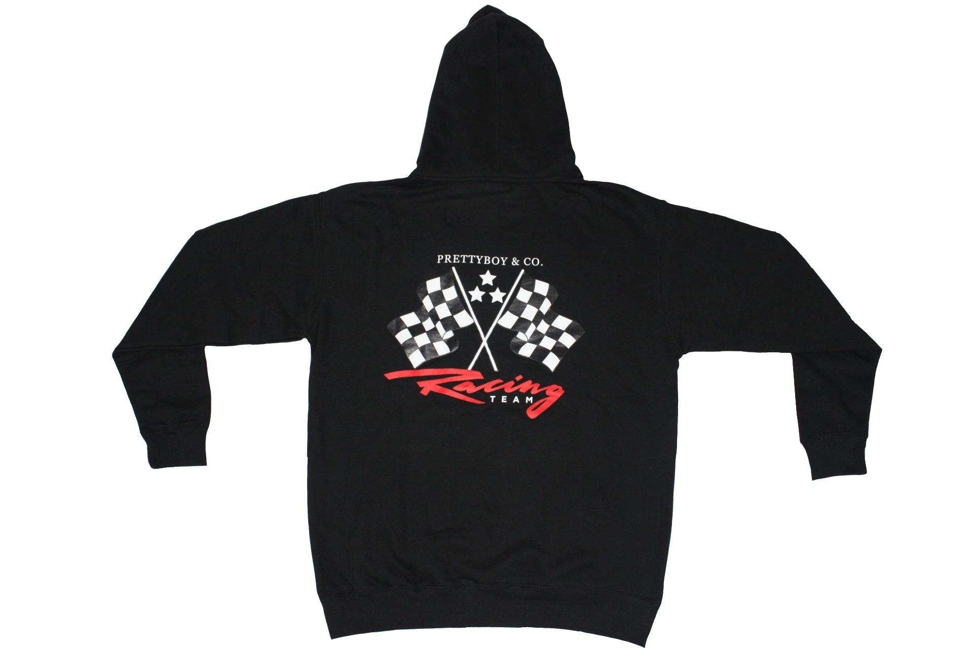 Black Racing Flags Hoodie (PrettyboyJaf Collection)