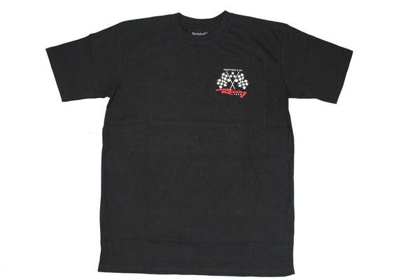 Black Racing Flags T-Shirt (The PrettyboyJaf Collection)