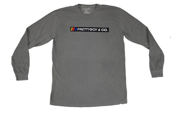 Grey Racing Banner Long-Sleeve (The PrettyboyJaf Collection)