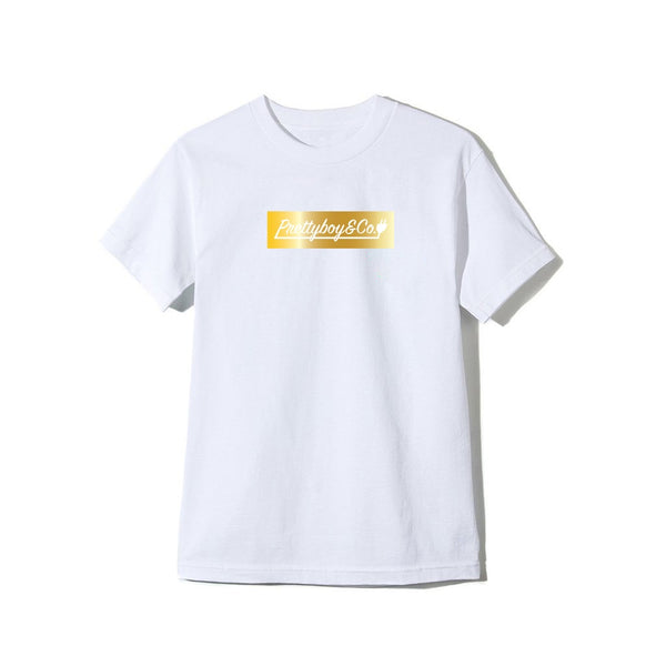 Metallic Gold Box Logo T-Shirt (PreOrder)