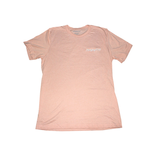 Salmon Embroidered Script T-Shirt