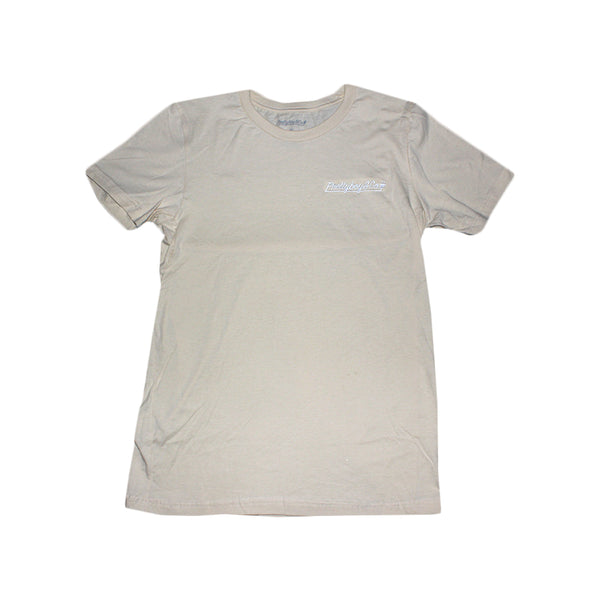 Tan Embroidered Script T-Shirt (Limited)