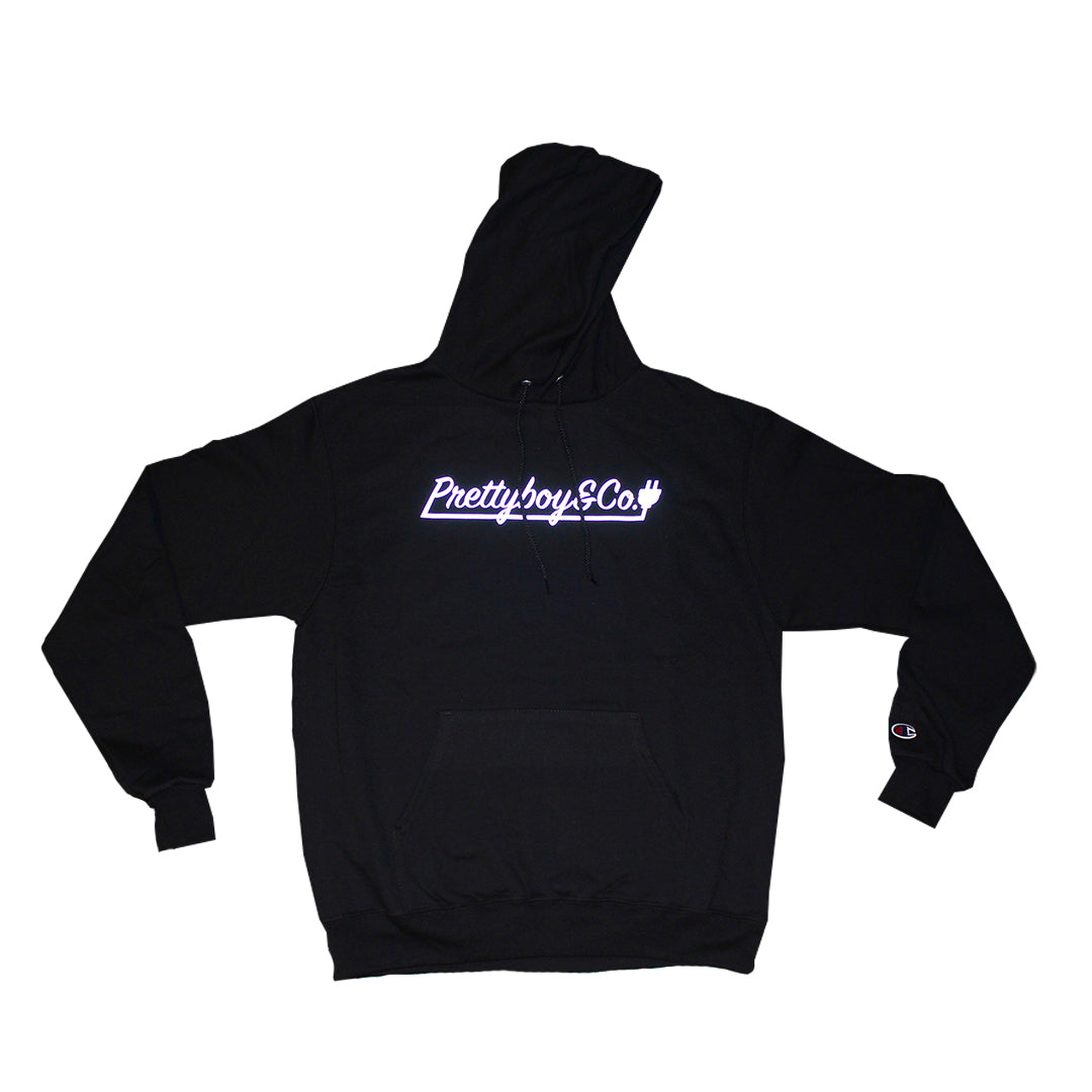 Black Champion Silver 3m Reflective Hoodie (Limited)