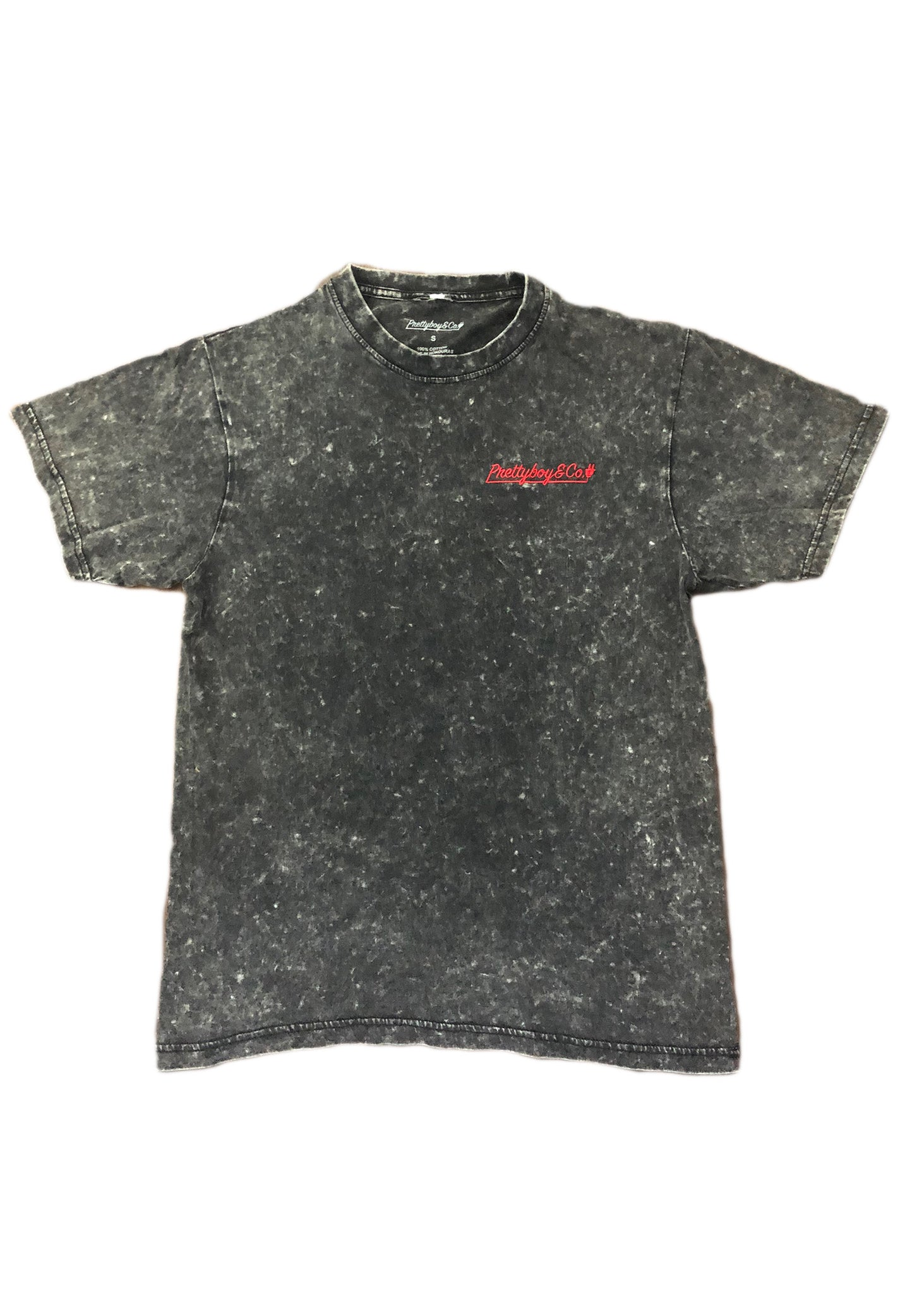 Washed Embroidered Red Script T-Shirt (Limited)