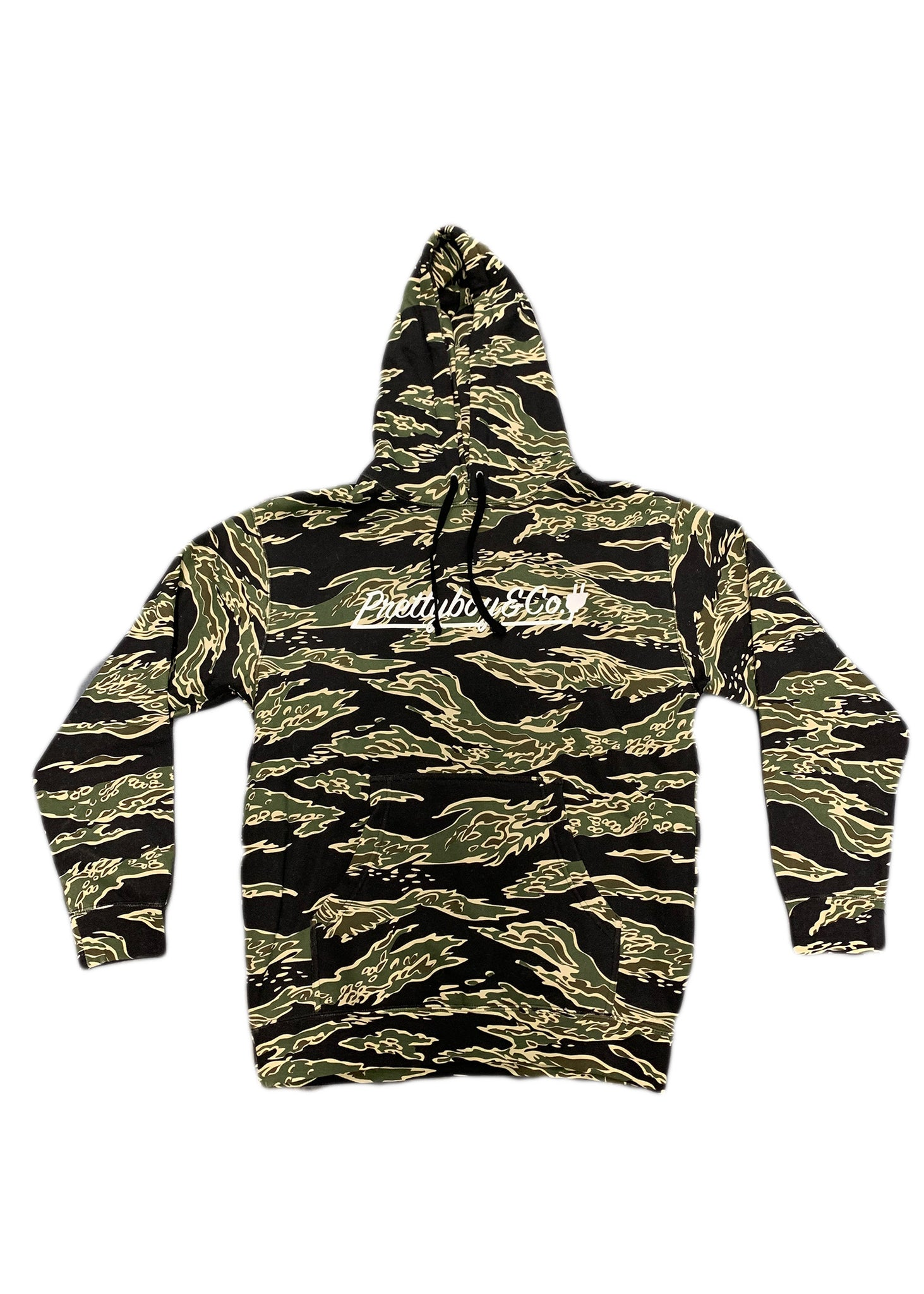 Green Tiger Camo Script Hoodie (Limited)