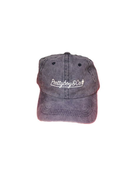 Washed Embroidered Script Dad Hat