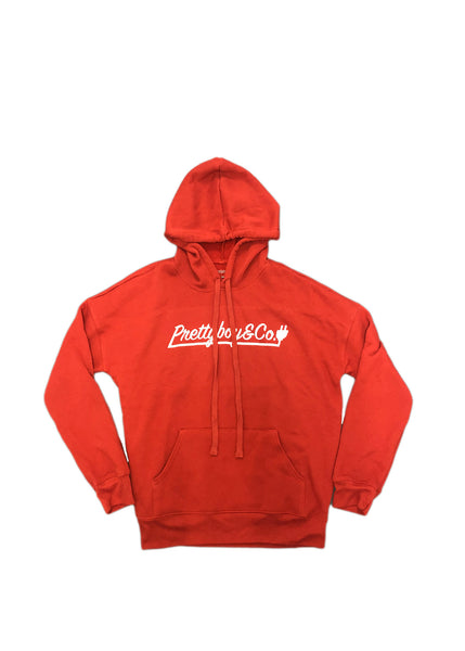 Premium Burnt Orange Script Hoodie
