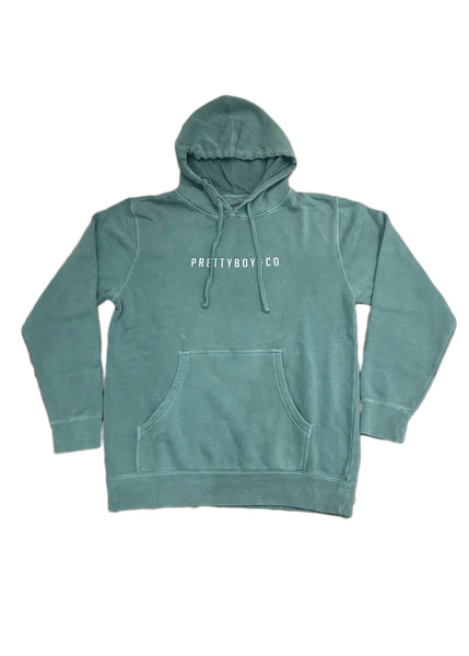 Mint Block Embroidered Hooded Sweatshirt (Limited)