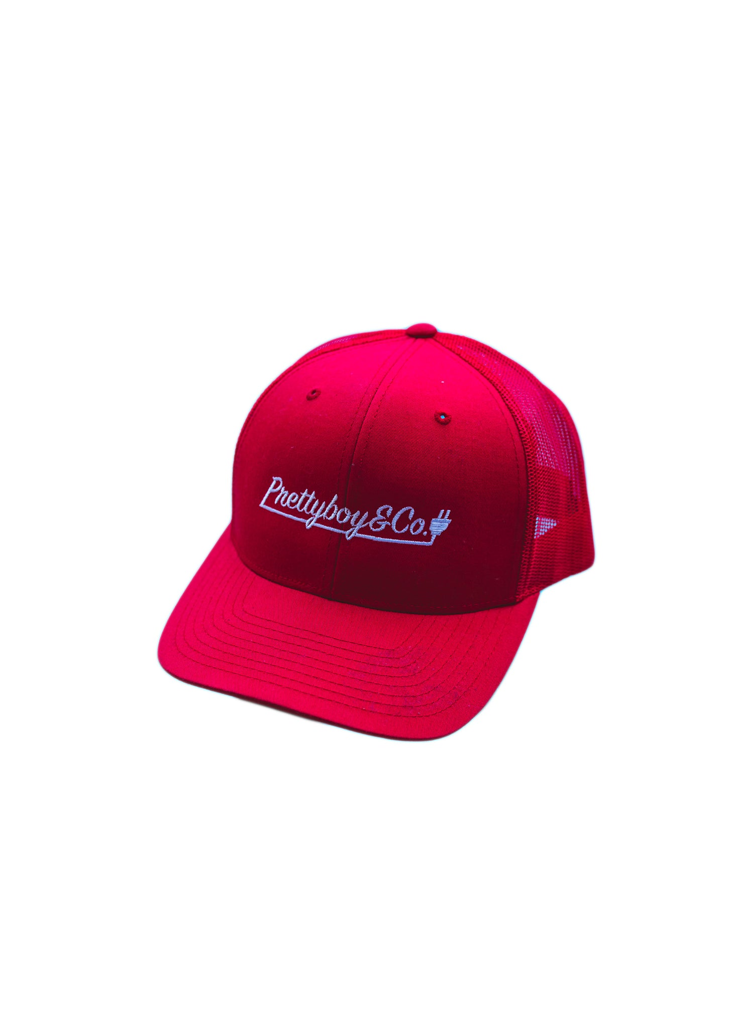 Embroidered Script Trucker Snapback Hat (Limited)
