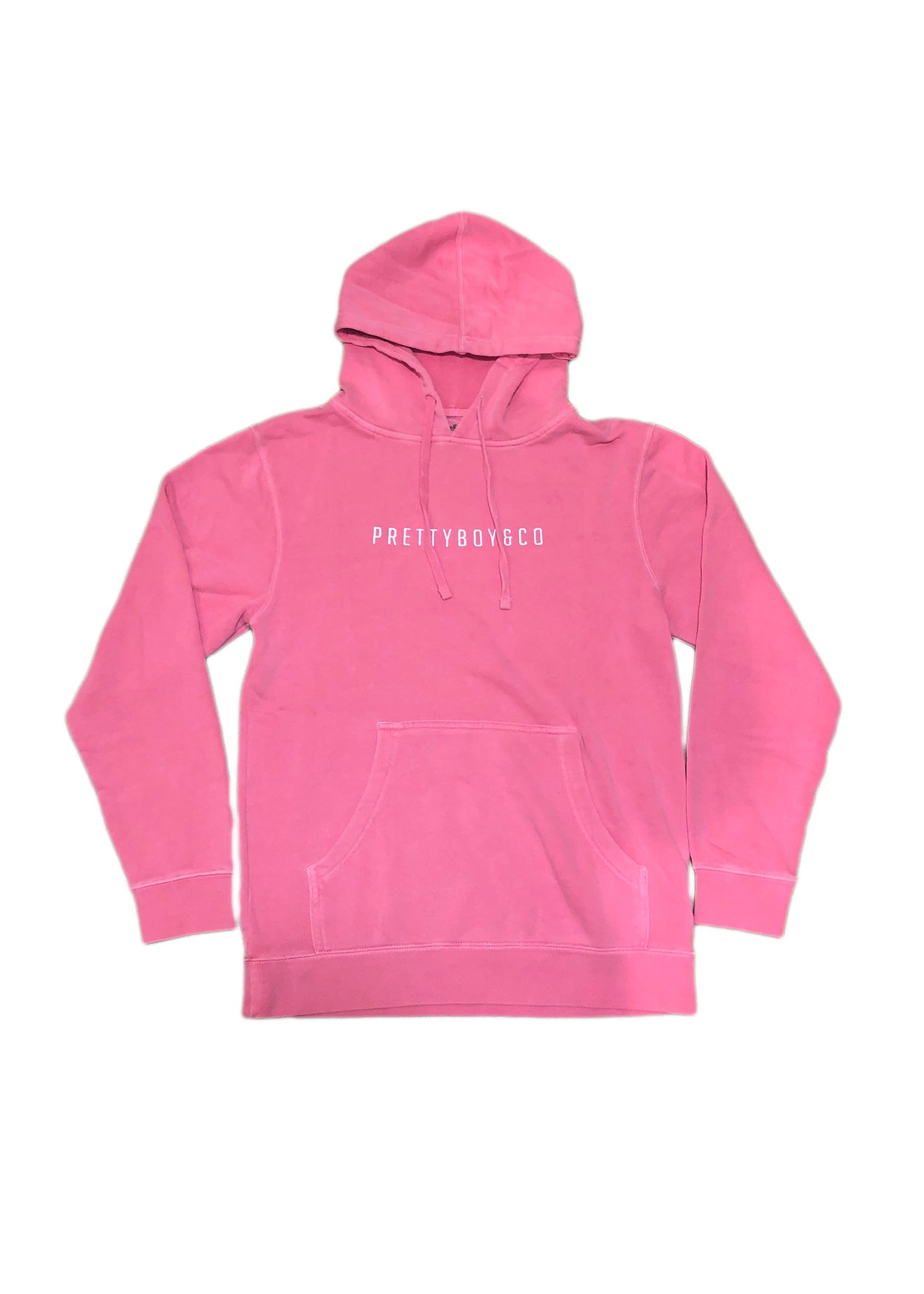 Pink Block Embroidered Hooded Sweatshirt (Limited)