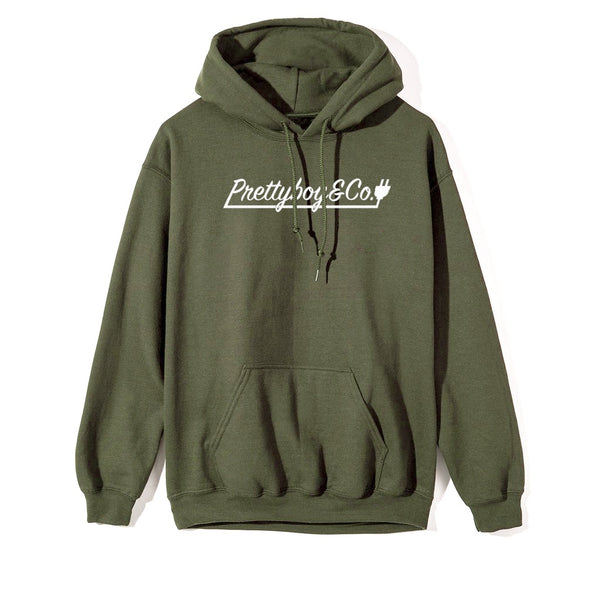 Olive Script Hooded Sweatshirt (Limited)