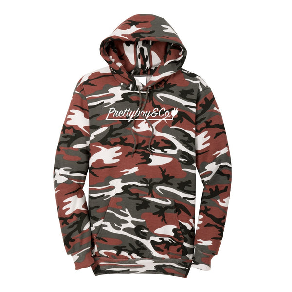 Red Camo Script Hooded Sweatshirt (Limited)
