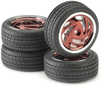 Wheels & Tyres 211000033 Ronin Red Chrome (4) 1:10