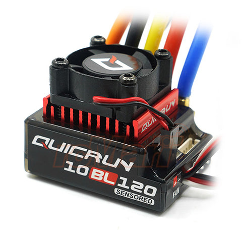 Hobbywing QUICRUN 10BL120 Sensored 120A 2-3S Lipo Speed Controller Brushless ESC for 1:10 1:12 RC Car