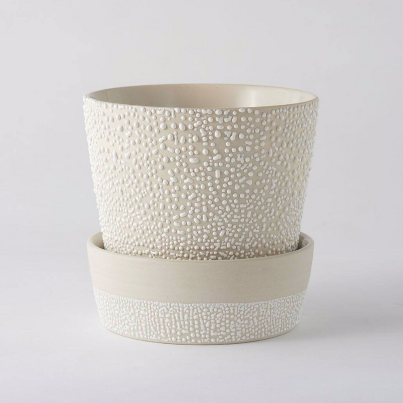 White Water Bead Planter