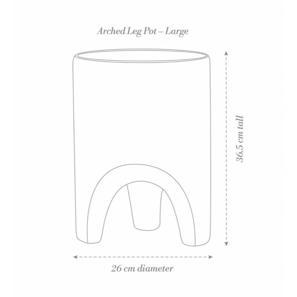 Arched Leg Large Plant Pot / White (Angus & Celeste)