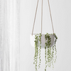 Cade Hanging Pot Large / Soft White (Milk & Sugar)