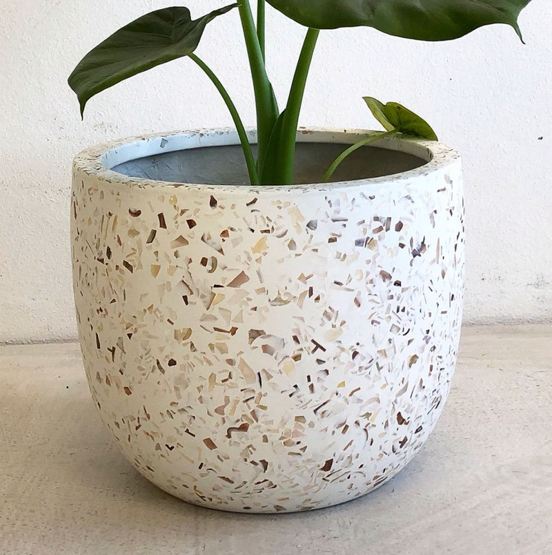 Liberty Pot Large / Pearl Shell Terrazzo (On the Side)