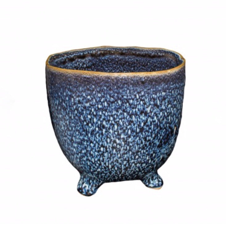 Mio Footed Plant Pot / Midnight