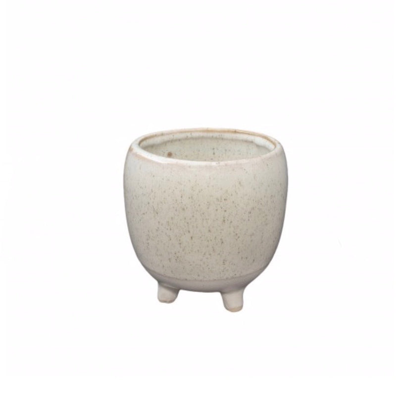 Nariko Footed Plant Pot / White Smoke (General Eclectic)