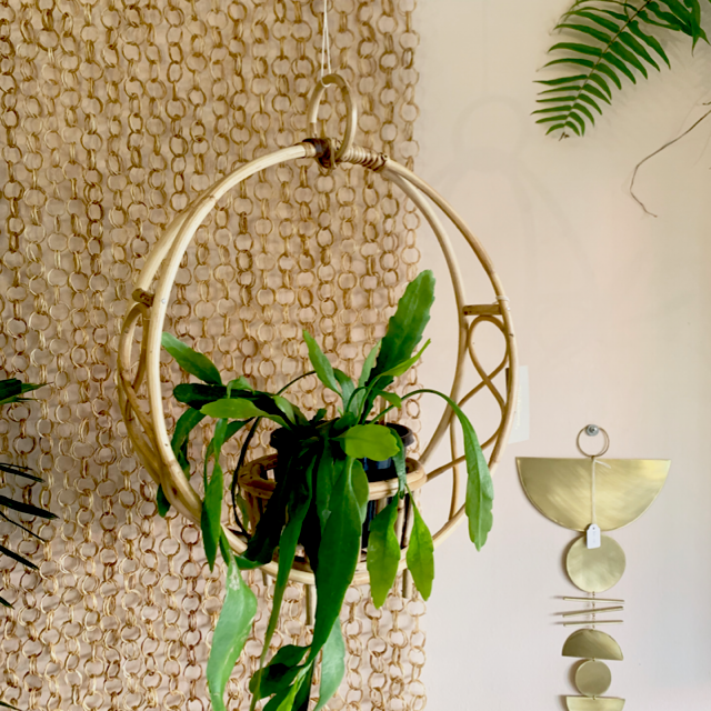 Rattan Hanging Planter (Bloomingville)