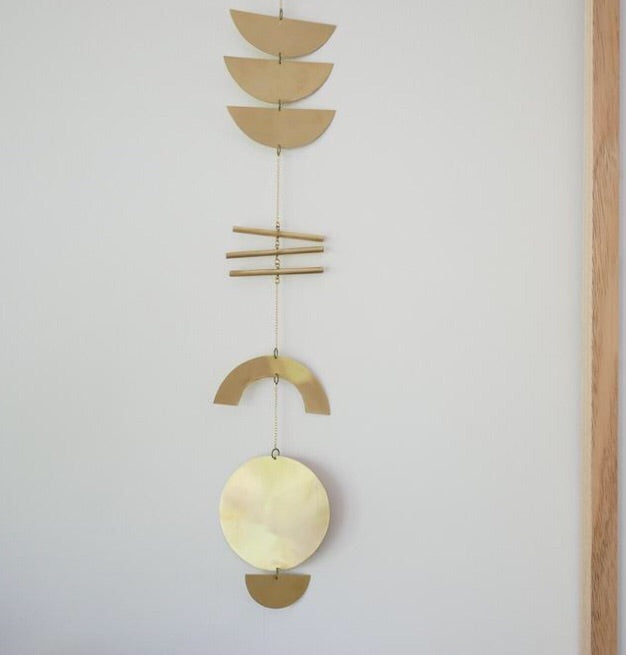 Juno + Ace Totem Brass Wall Hanging