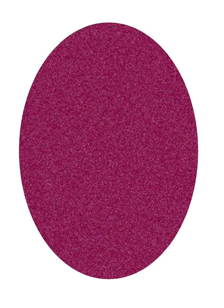 Solid Color Area Rug Oval-Cranberry