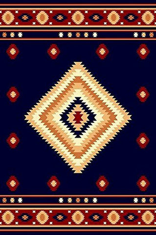 Southwest Southwestern Modern Area Rug Rustic Lodge BLUE 640 Furnishmyplace