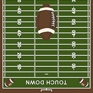 Maple Home Football Field Ground Kids Football Rectangle Area Rug Green
