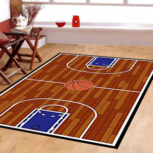 Maple Home 690 Rust Basketball Ground Kids Area Rug