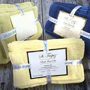 Spura Home St Tropez Plain 6 Piece Towel Set
