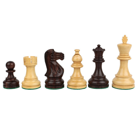 Furnish my Place Boxwood and Sheeshmwood Chessmen Mdeep Design