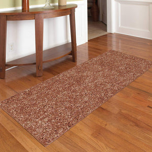 Solid Rust Color Custom Size Runner Area Rug - 3' to 4' Width